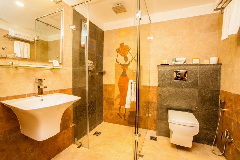 Cool Yellow Bathroom Remodelling