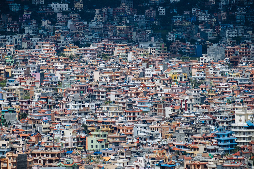 View of Kathmandu from Swayambhunath Stupa. Photo: Javi Lorbada